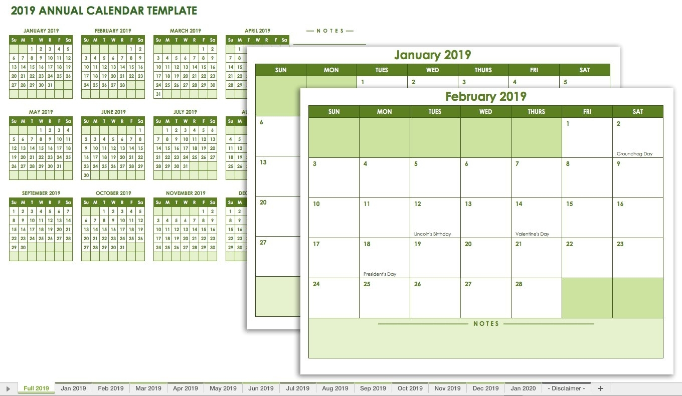 Free Blank Calendar Templates - Smartsheet with regard to 12 Month Calendar With Room For Notes