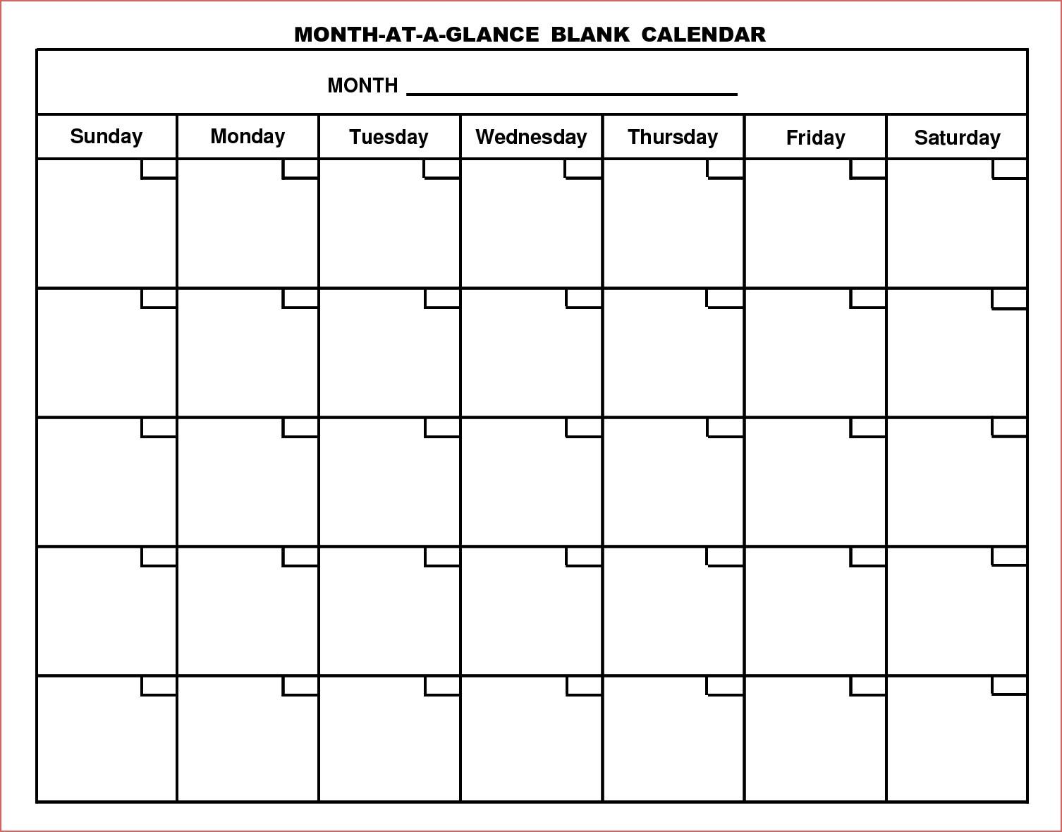 Free Blank Printable Calendar 2017 Printable Calendar Free Month within Full Size Blank Printable Calendar