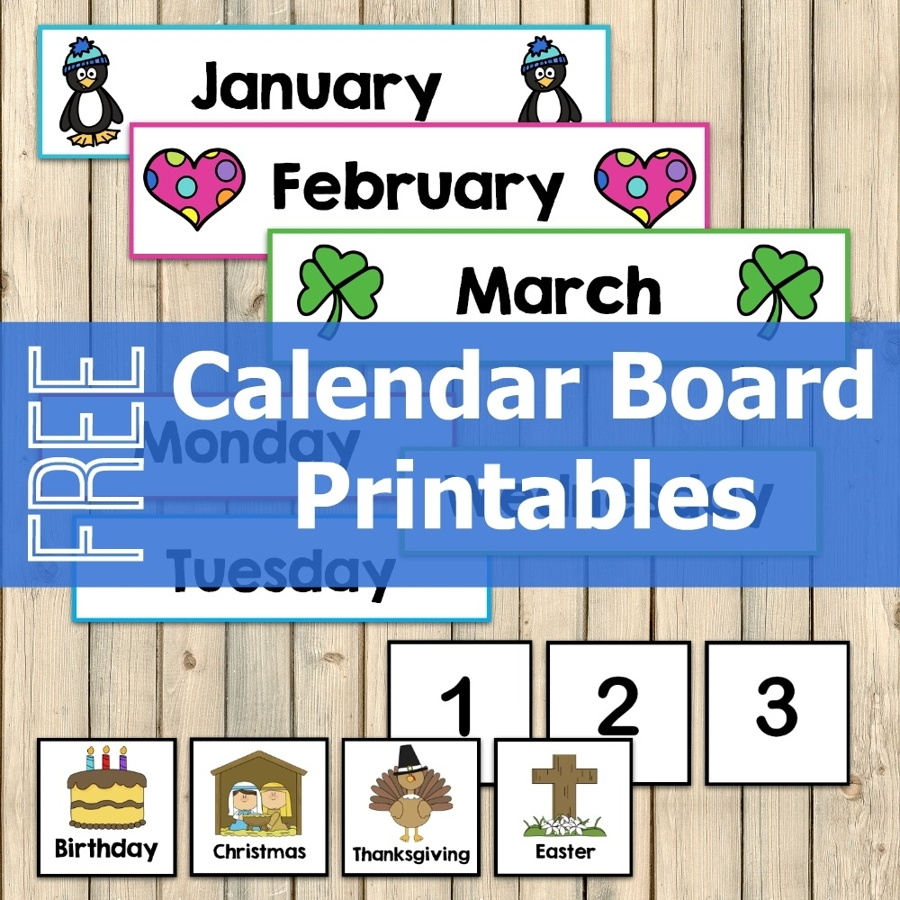 Free Calendar Board Printables - My Joy-Filled Life pertaining to Printable Calendar Pieces To 31