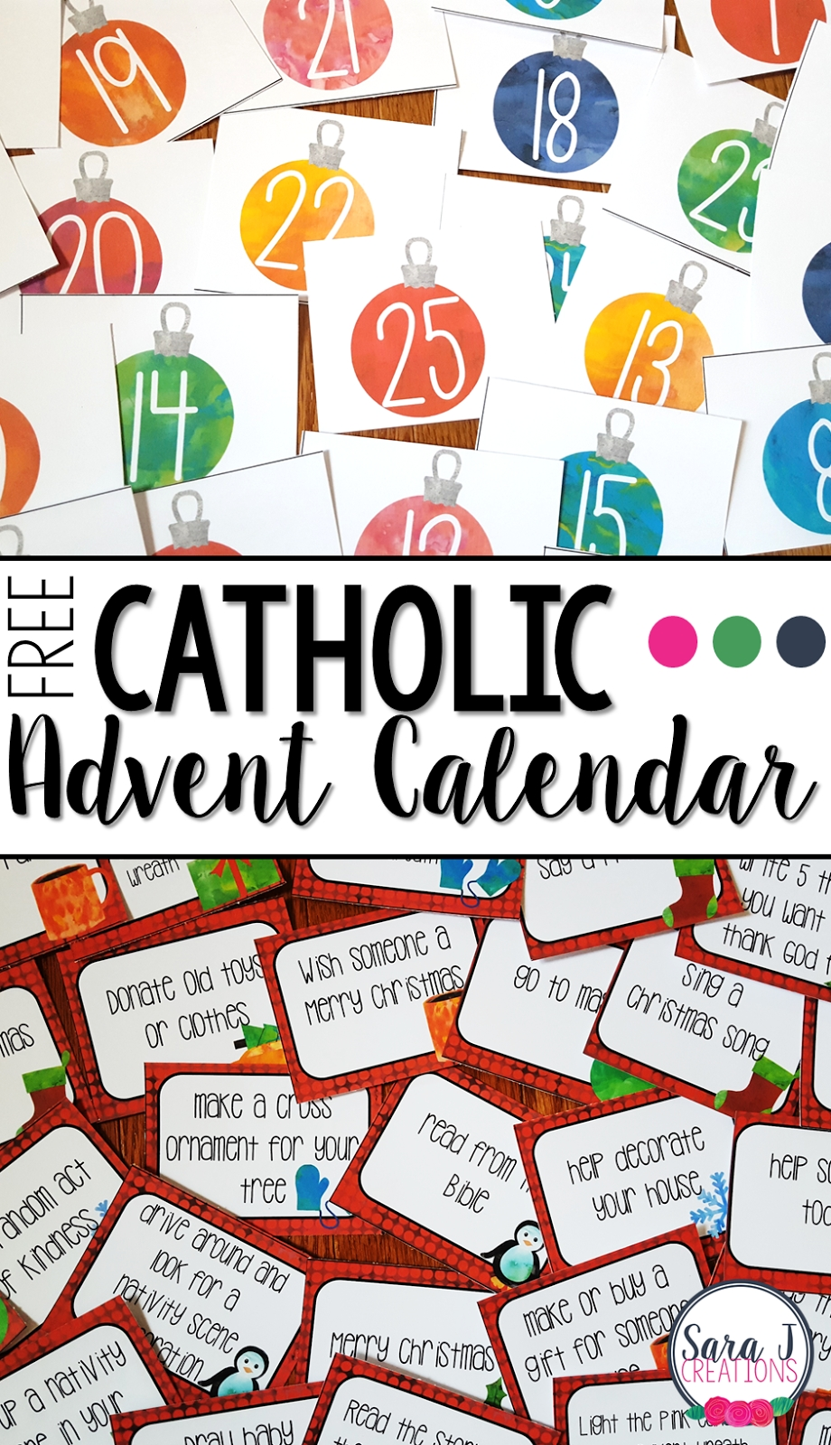 Free Catholic Advent Calendar | Sara J Creations inside Printable Advent Calendars For All Seasons