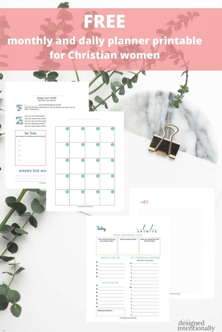 Free Christian Monthly And Daily Planner Printable From Designed with regard to Catholic Daily Planner Template Printable Free