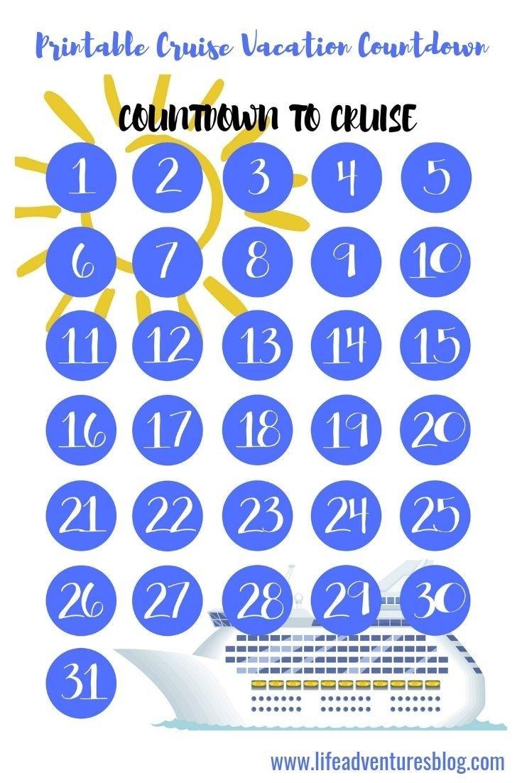 Free Cruise Vacation Countdown Calendar For Your Next Cruise with Free Printable Vacation Countdown Calendar