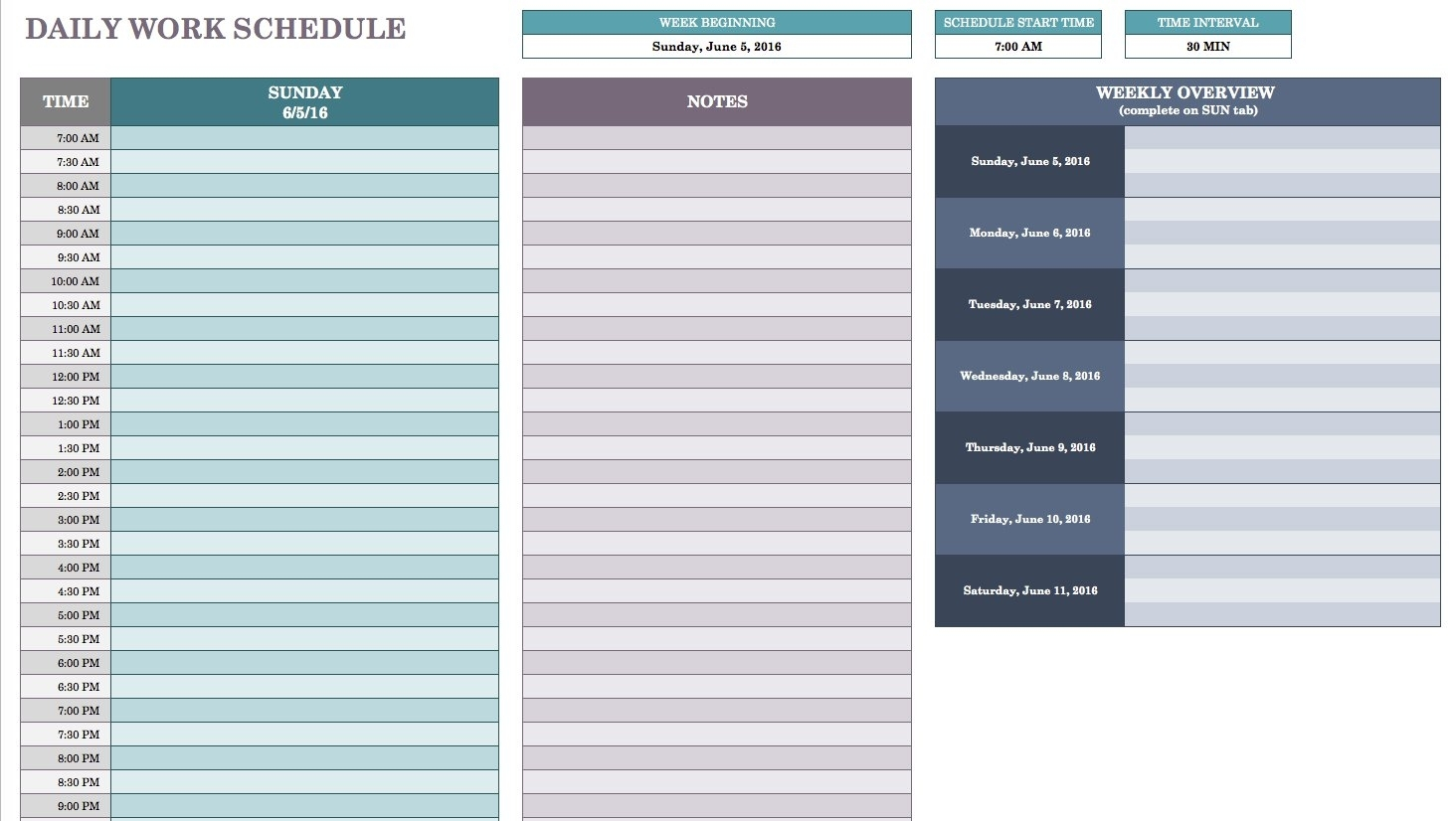 Free Daily Schedule Templates For Excel Smartsheet Ner Template intended for Schedule At A Glance Template