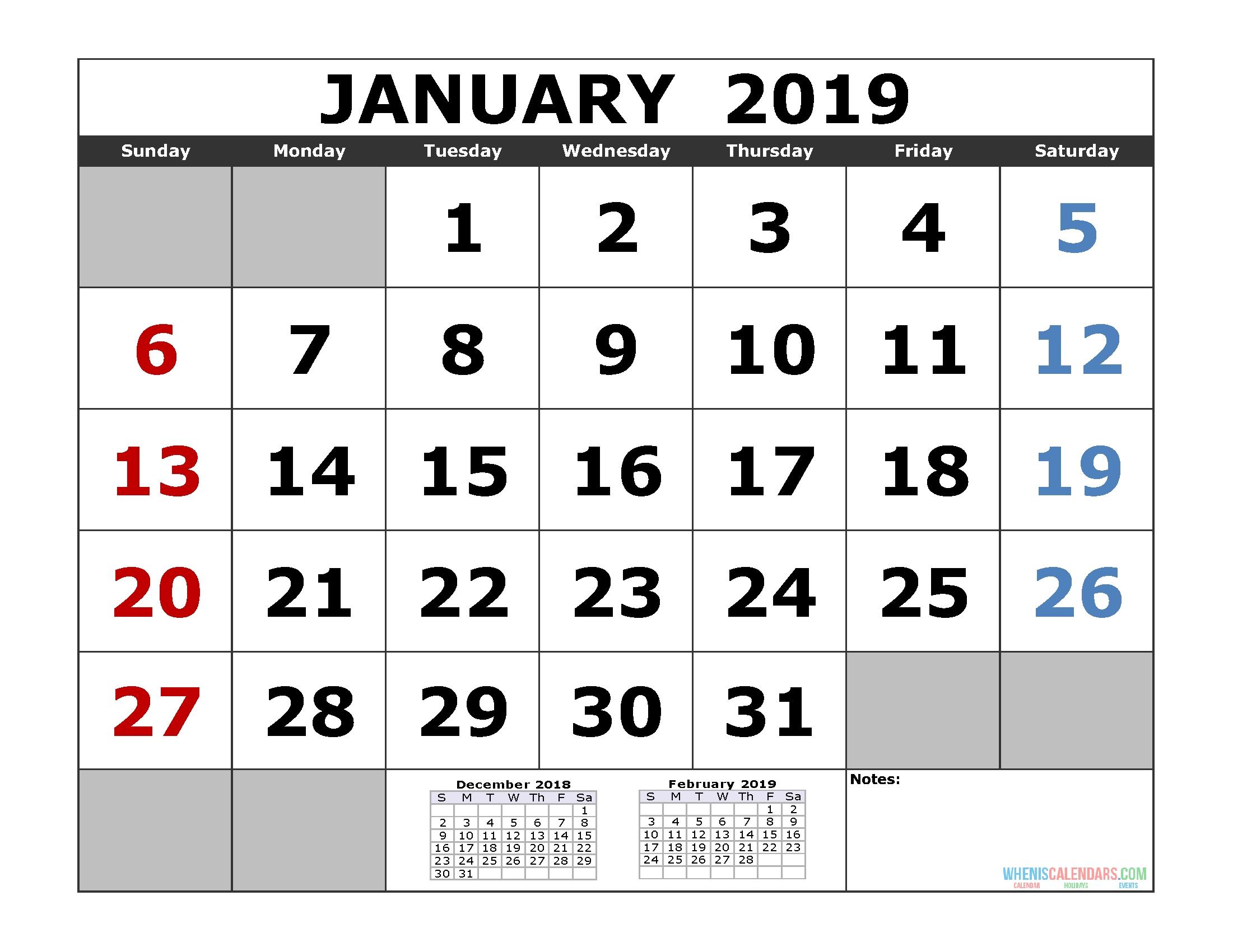 Free Download 2019 Printable Calendar Template (3 Month Calendar in Download A 3 Month Calendar