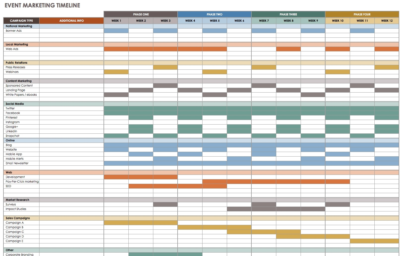 Free Event Planning Templates Smartsheet Conference Schedule regarding 2 Week Induction Timetable Free Template