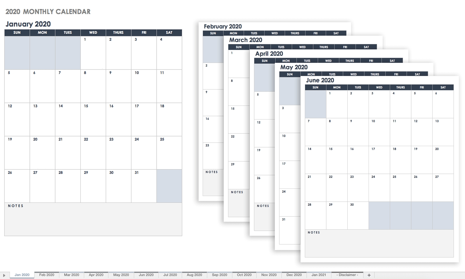 Free Google Calendar Templates | Smartsheet regarding Monthly Calendar Templates Portrait Editable