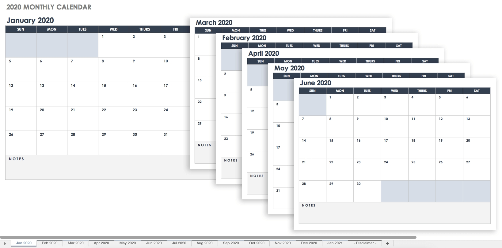 Free Google Calendar Templates | Smartsheet within Free Editable Monthly Calendar Template