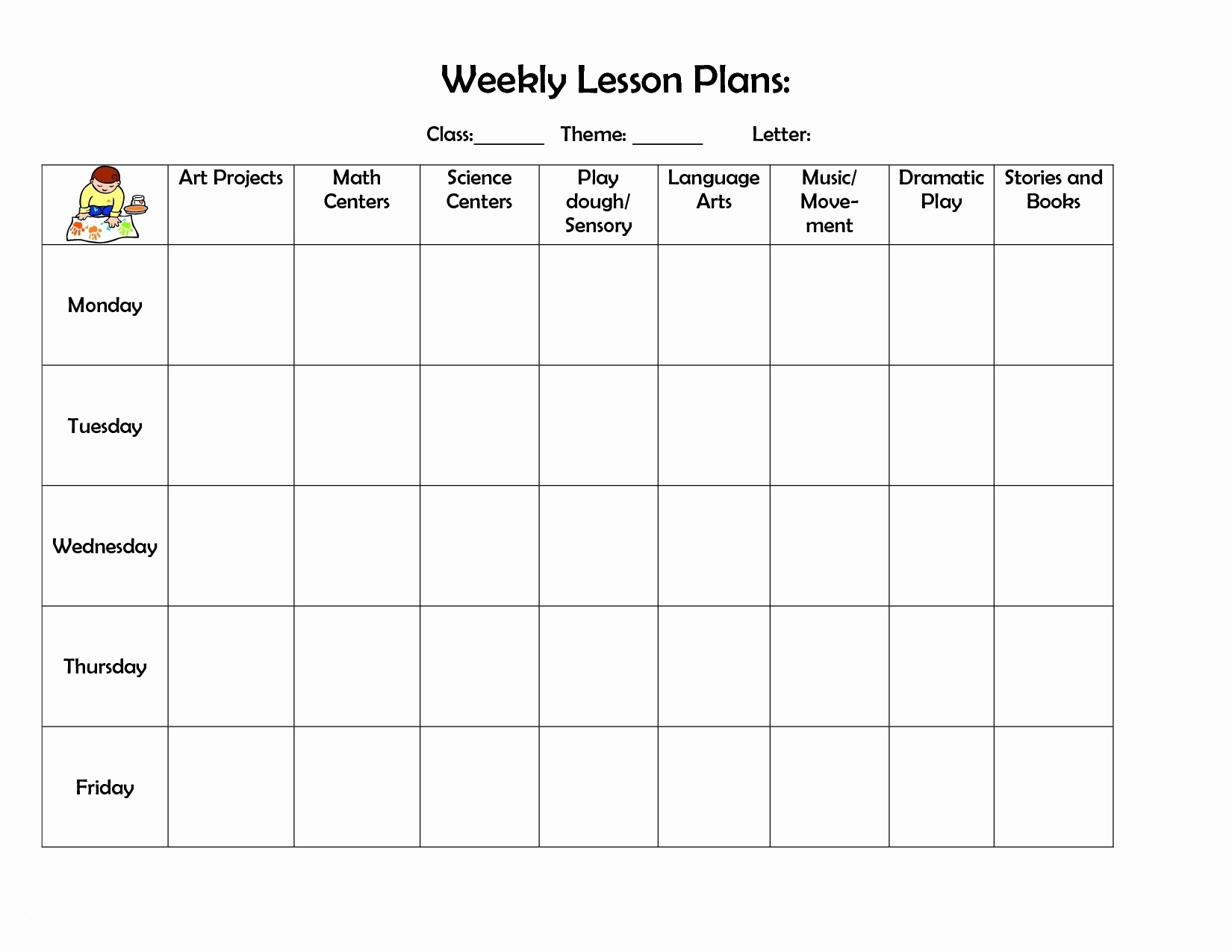 Free Lesson Plan Template Word Doc Monthly Meal Planner Calendar intended for Free Lesson Plan Printable Calendar