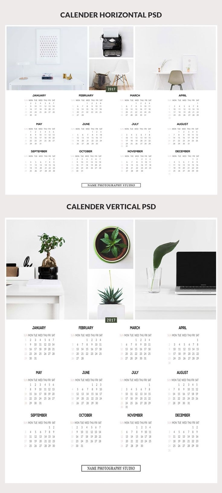 Free Minimalist Printable Calendar Psd Templates | Branding within Year At A Glance Calendar Simple Design