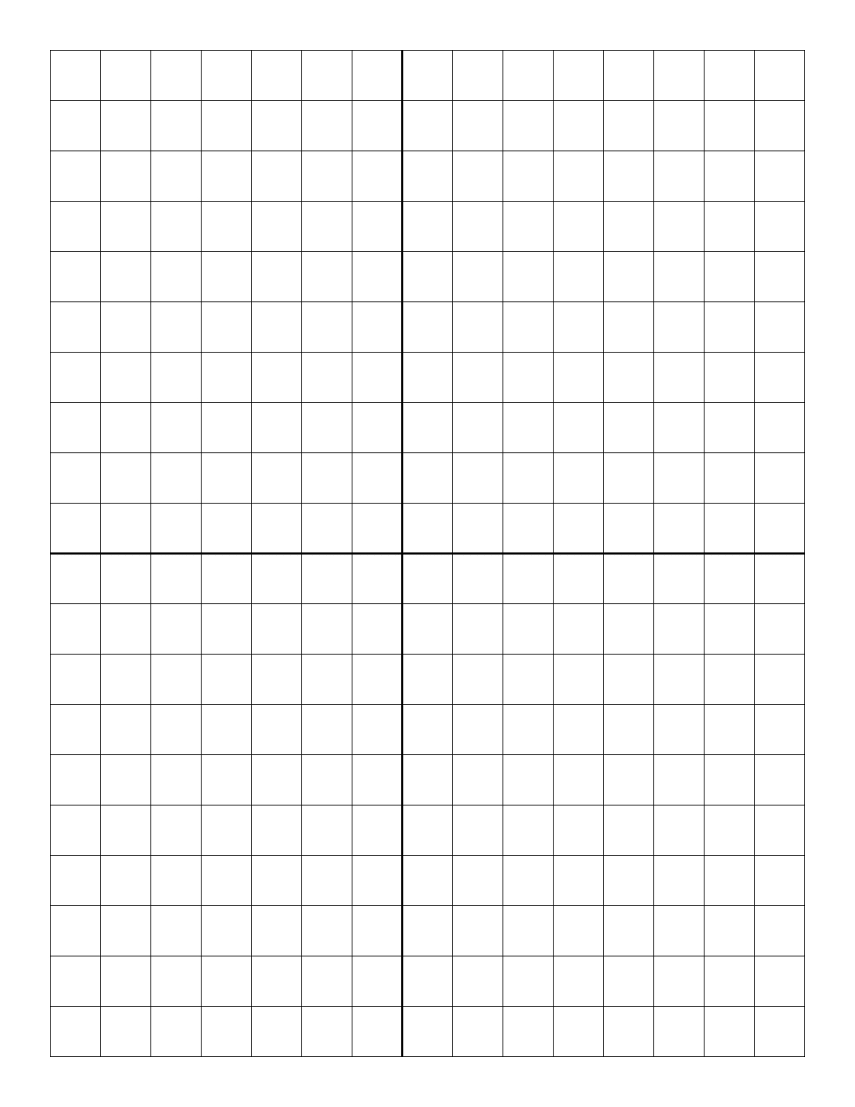 Free Online Graph Paper / Plain with 12 X 30 Grid Png