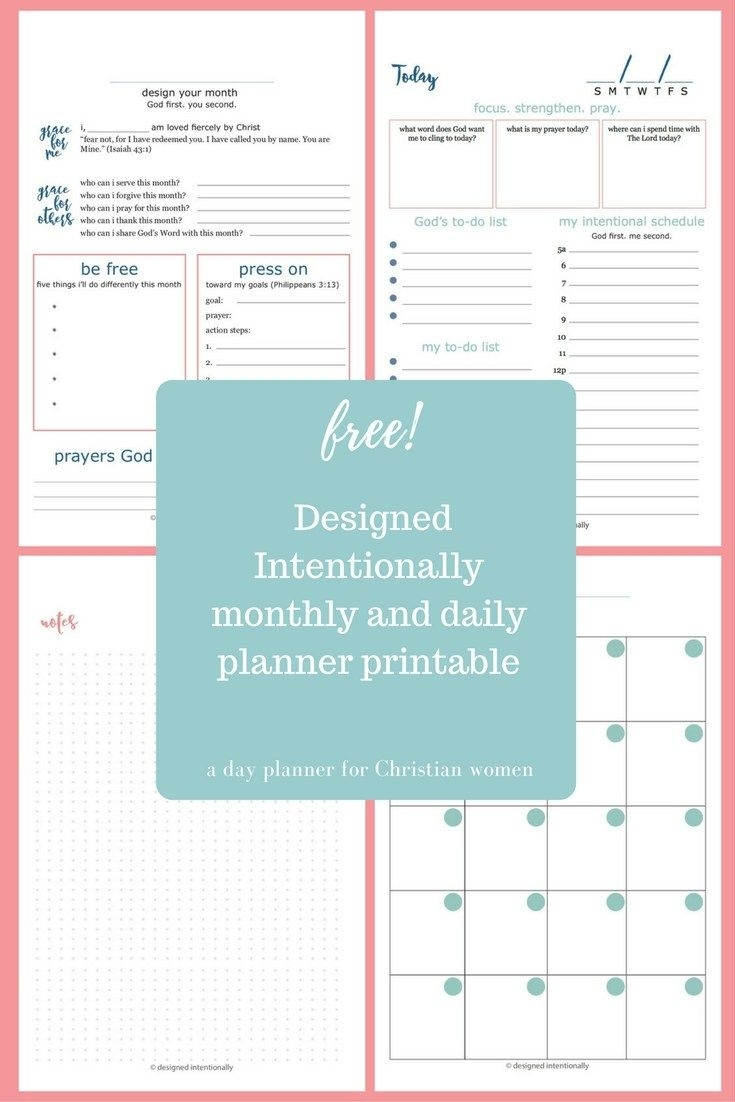 Free Planner Printable | Intentional Organization | Daily Planner for Catholic Daily Planner Template Printable Free