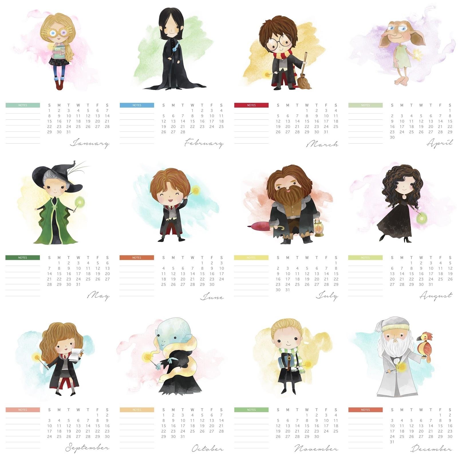 Free Printable 2017 Harry Potter Calendar. - Oh My Fiesta! For Geeks regarding Free Printable Adult Superhero Calendars