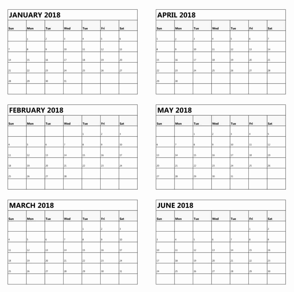 Free Printable 2019 Calendar 3 Months Per Page Free Printable 6 inside 3 Month Calendar Free Printable