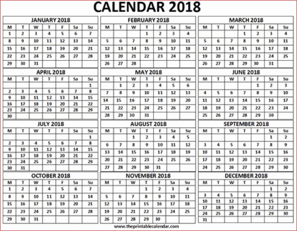 Free Printable 3 Month Calendar 2018 One Page Calendar Printable intended for 3 Month On One Page Printable