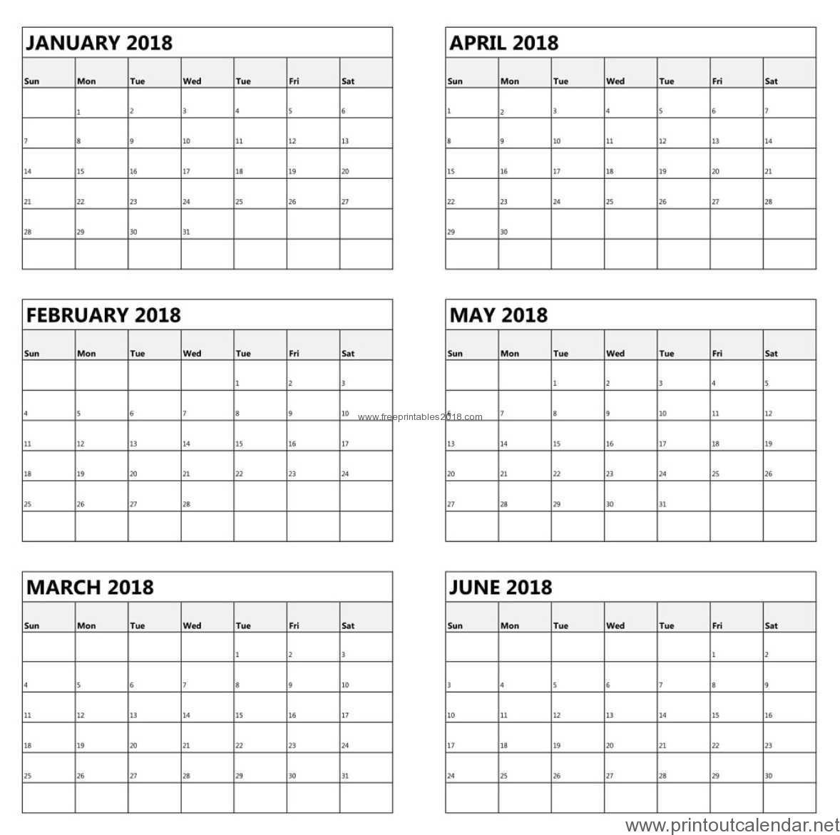 Free Printable 6 Month Calendar 2019 | Free Printables 2019 in Free Printable 6 Month Calendar
