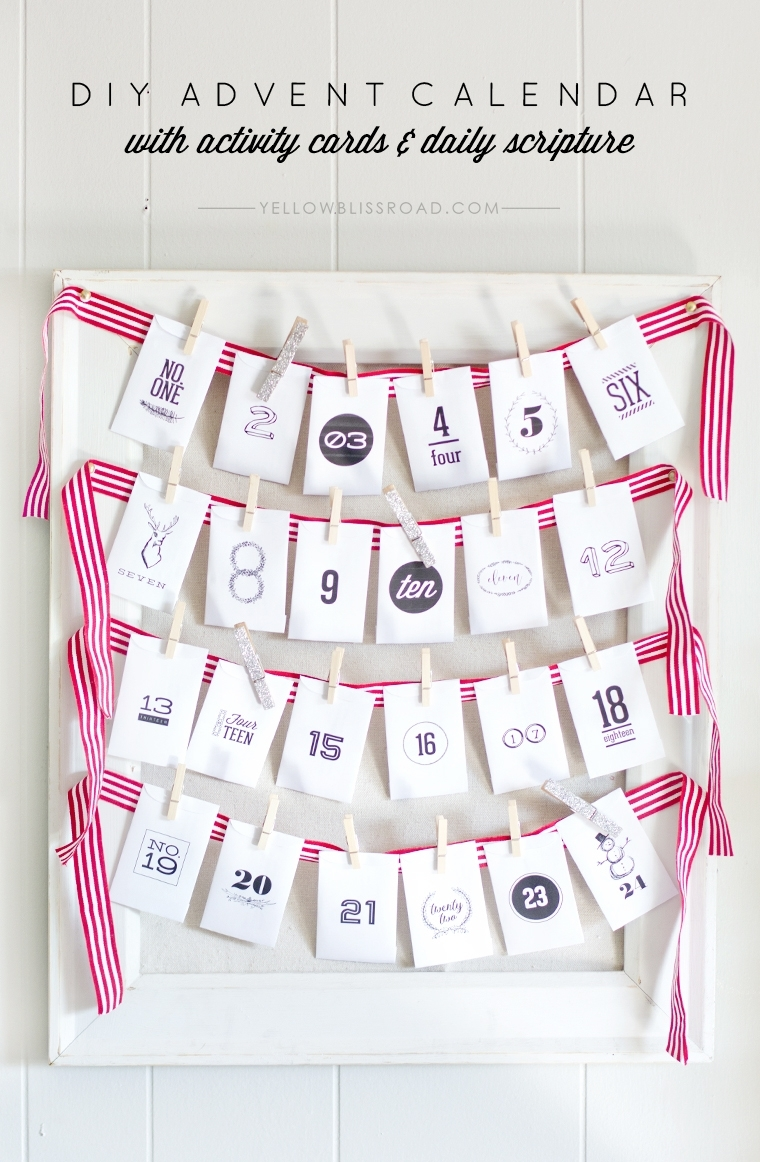 Free Printable Advent Calendar With Activity Ideas (Diy) with Advent Calendar Gifts With Verses