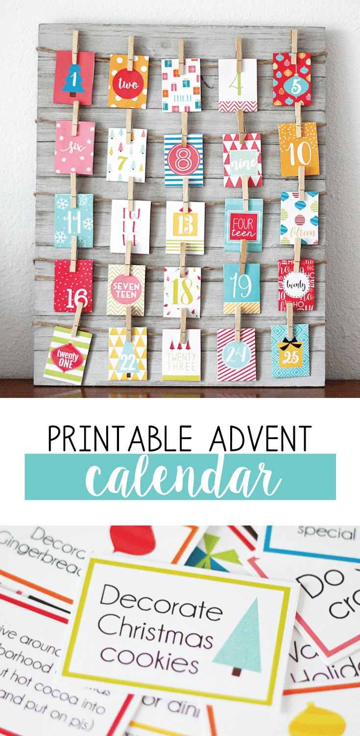 Free Printable Advent Calendar With Loads Of Fun Activities! | Skip regarding Printable Advent Calendars For All Seasons