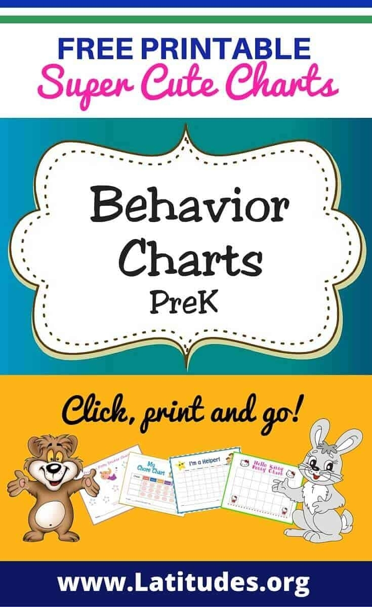 Free Printable Behavior Charts For Teachers & Students (Pre-K) | Acn intended for Conducut Chart For Play School