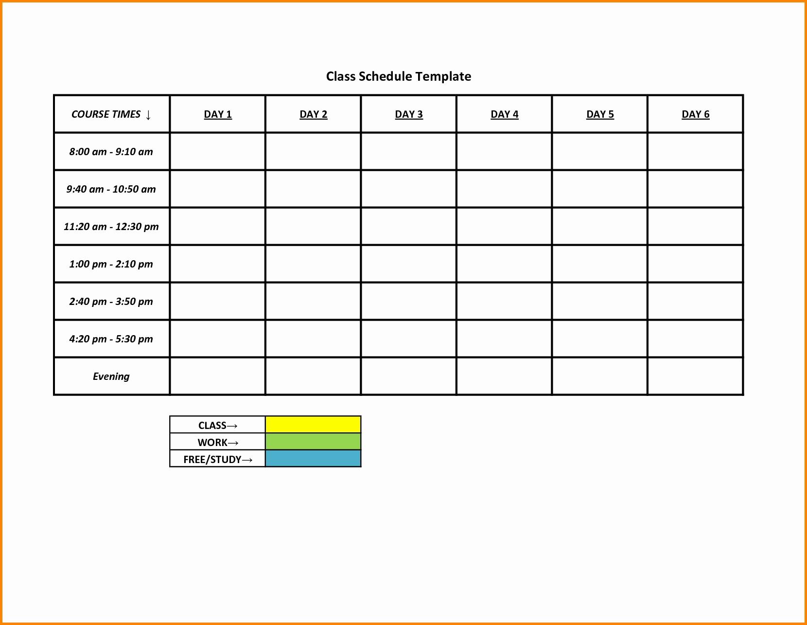 Free Printable Blank 5 Day Weekly Calendar 5 Day Schedule Template regarding 5 Day Calendar Printable Free