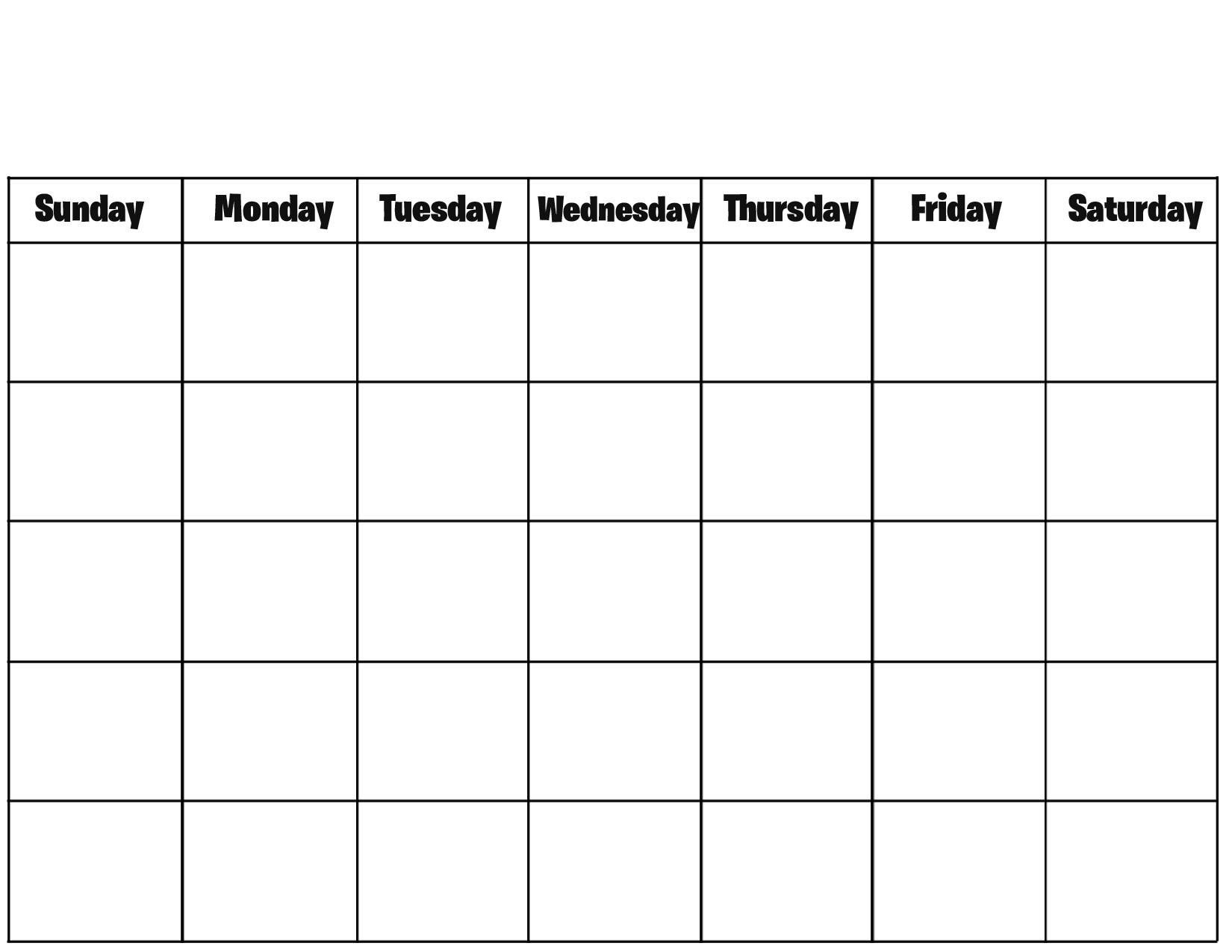 Free Printable Blank Calendar Pages Printable Calendar Templates inside Free Printable Blank Calendar Templates