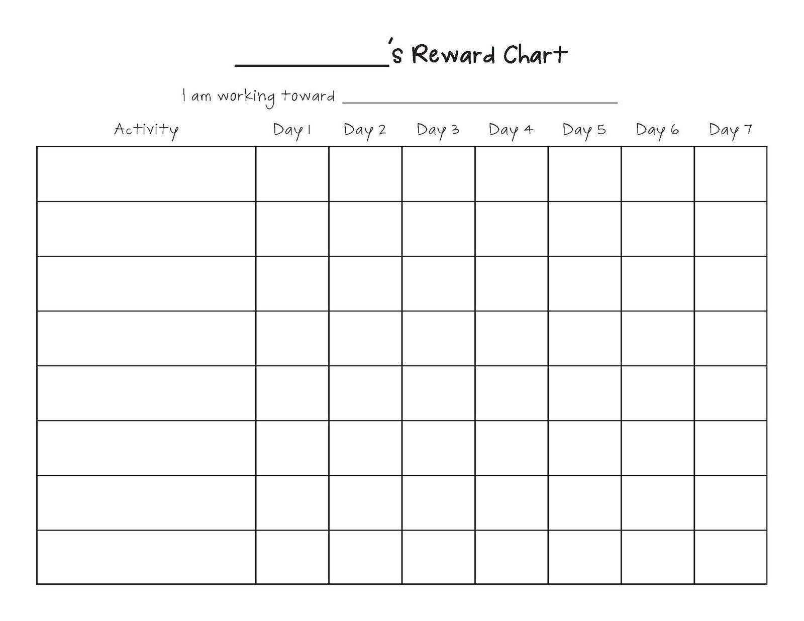 Free Printable Blank Charts | Printable Blank Charts Image Search regarding Blank Behavior Charts For September