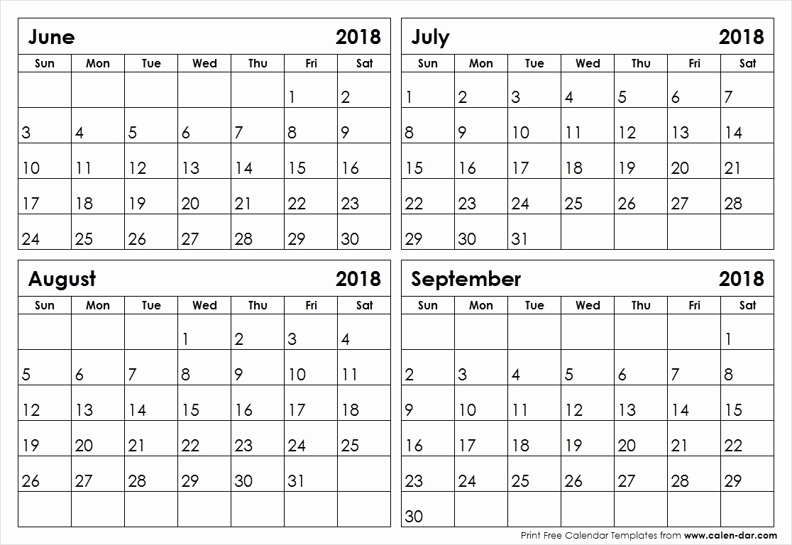 Free Printable Calendar 2019 3 Months Per Page Printable Calendar 4 intended for 4 Months Per Page Calendar Printable