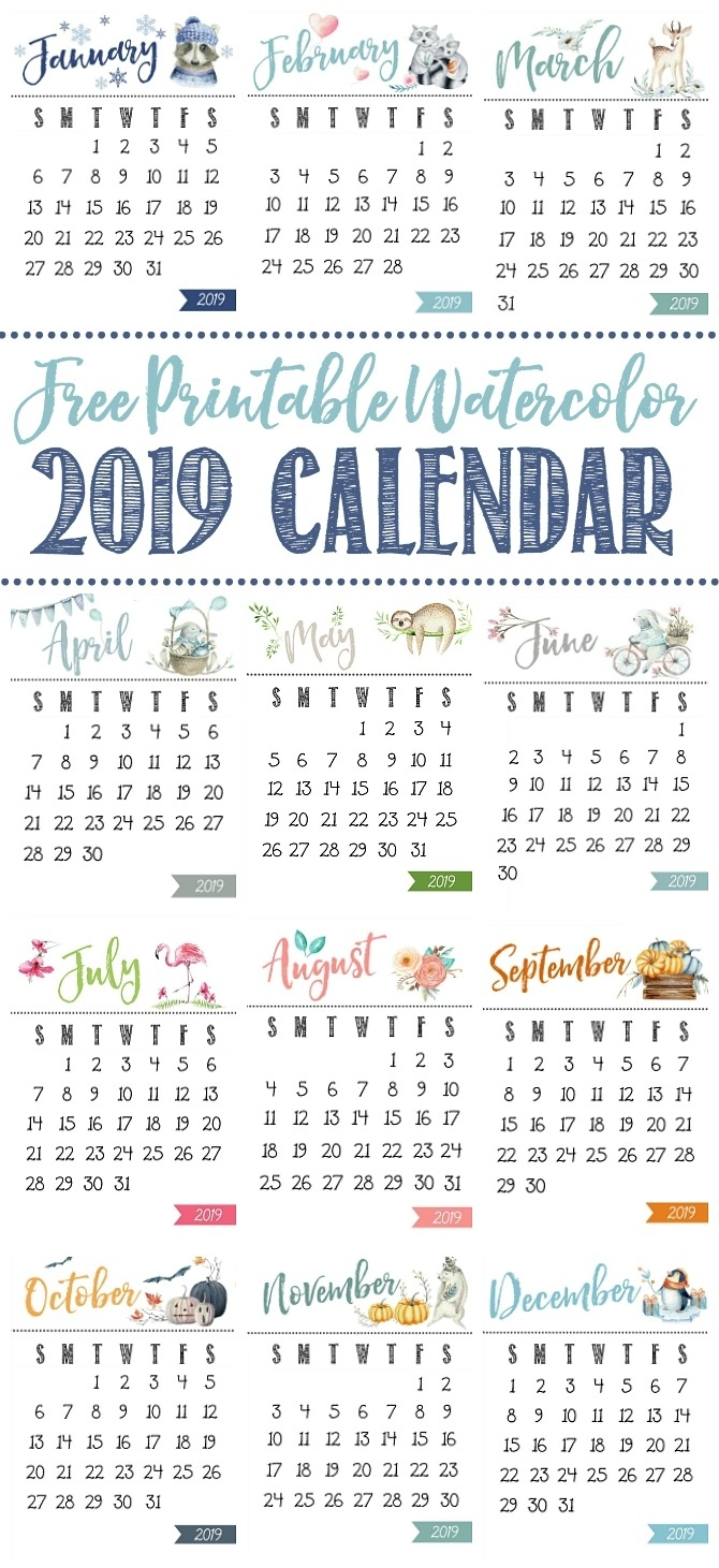 Free Printable Calendar - Clean And Scentsible inside Free Printable Year Long Calendar