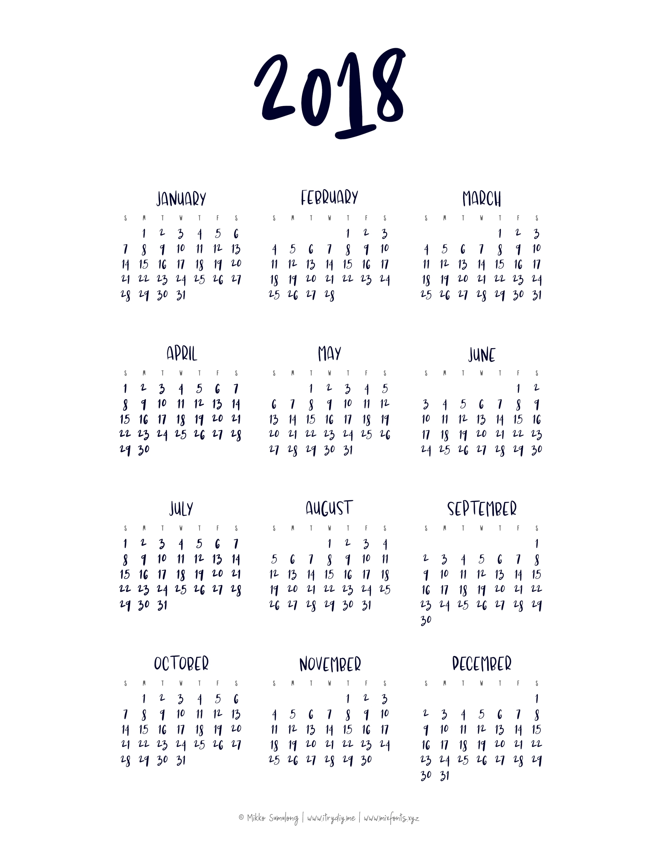 Free Printable Calendar Year At A Glance Calendar | Template inside Free Printable Calendar Year At A Glance Calendar