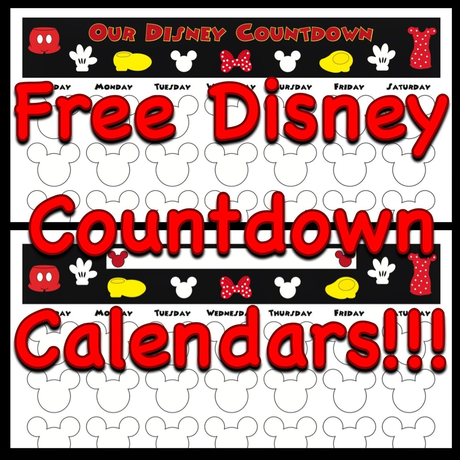 Free, Printable Countdown Calendars To Use For Your Next Disney Trip intended for Free Printable Vacation Countdown Calendar