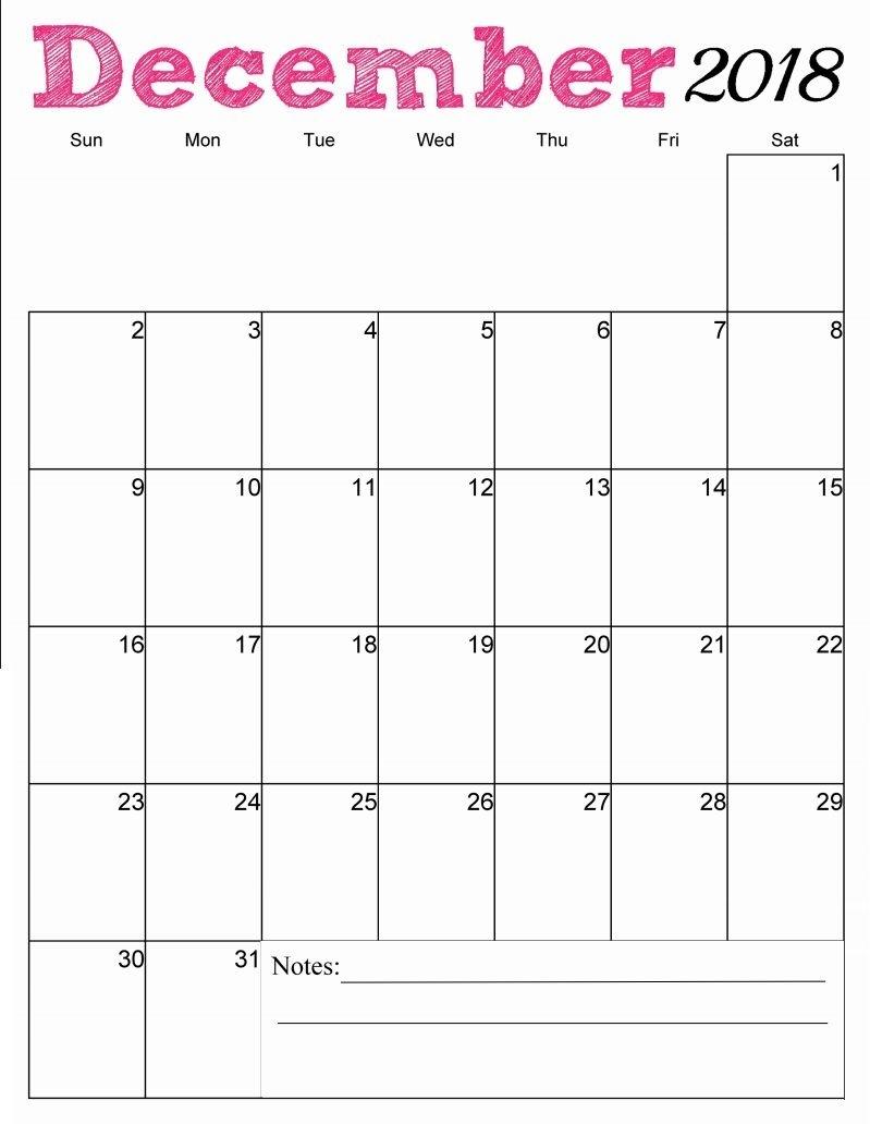 Free Printable December 2018 Vertical Calendar | Just Stuff throughout Images Of A Calendar January Through December