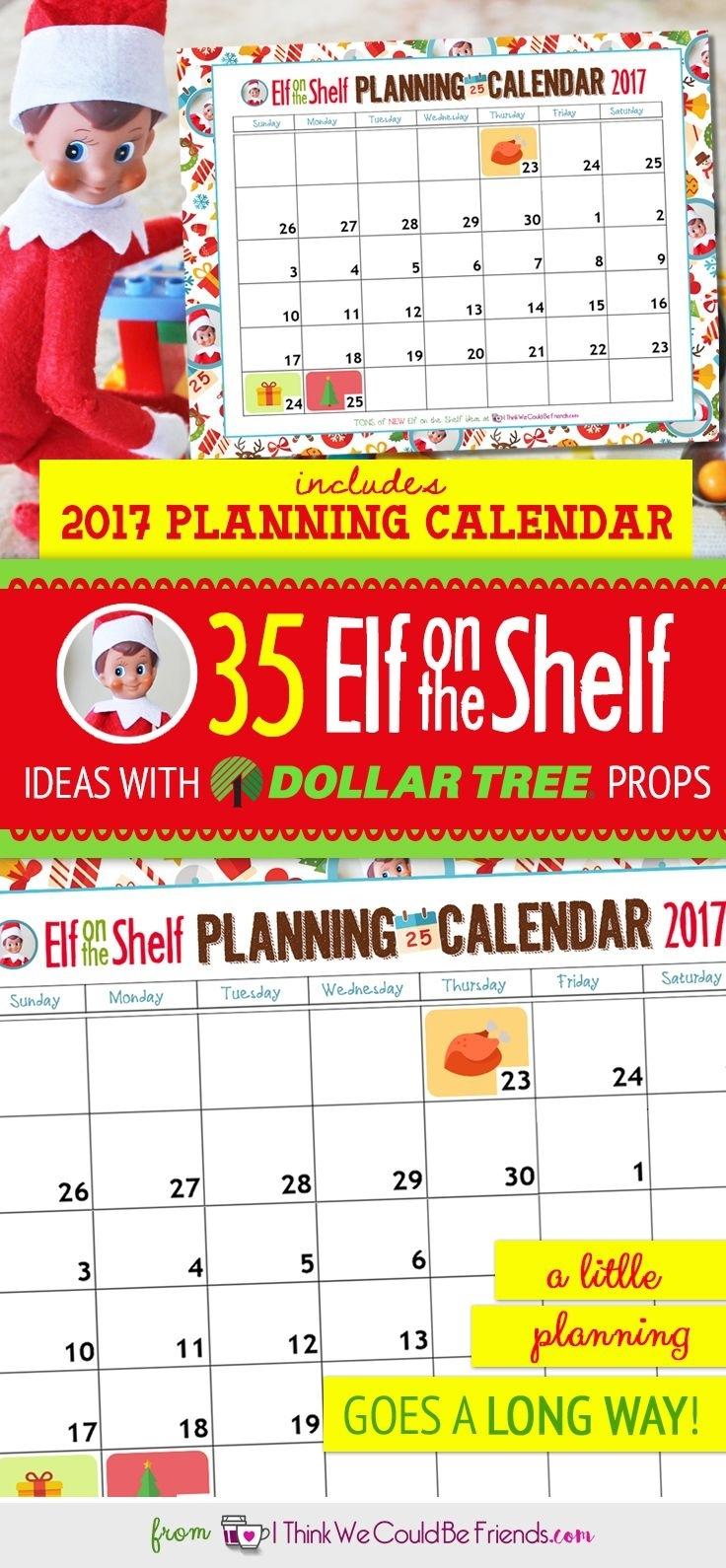 Free Printable Elf On The Shelf Planning Calendar For 2018! | Elf On with Free Printable Adult Superhero Calendars