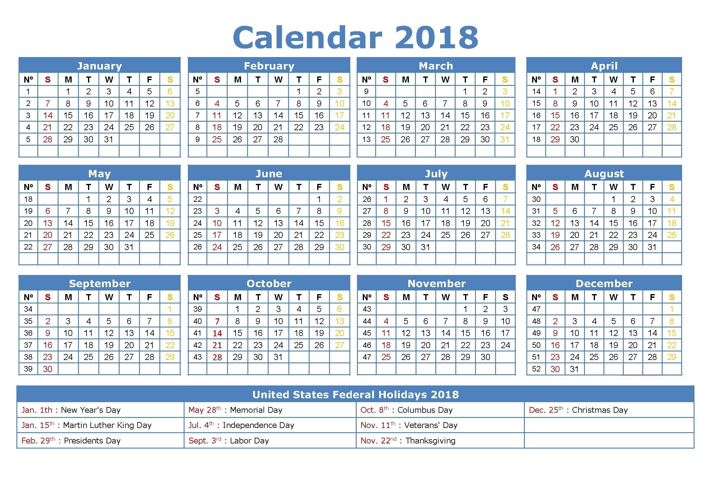 Free Printable Employee Attendance Calendar 2018 Yelom – Printable throughout Free Printable Employee Attendance Calendars