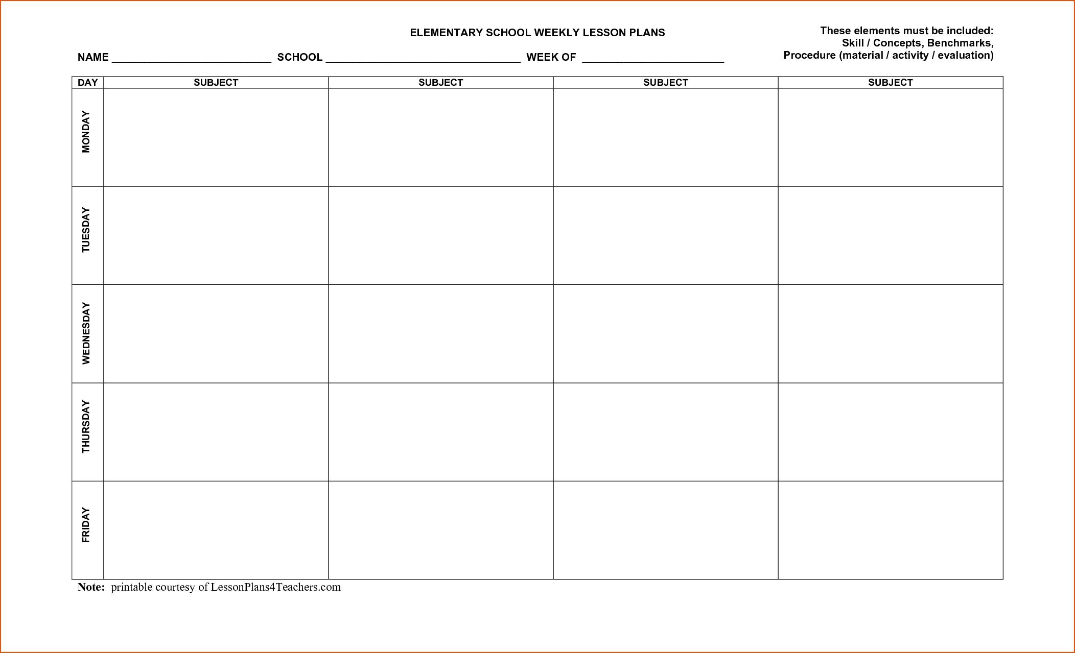 Free Printable Lesson Plan Calendars | Template Calendar Printable throughout Free Printable Lesson Plan Calendars
