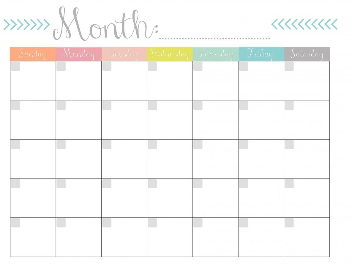 Free Printable Monthly Calendars | Skakun Media in Printable Month To Month Calendar