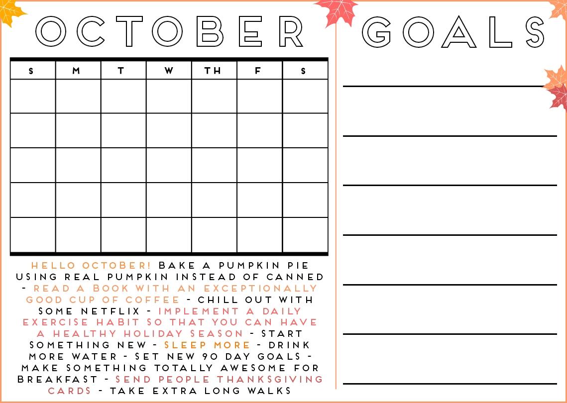 Free Printable: October Calendar   Organize!!!   October Calendar within Printable Months Of Year Owl