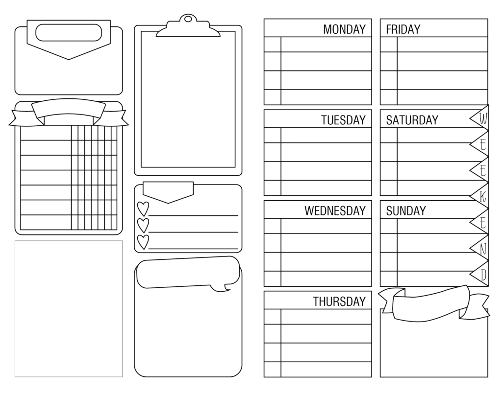 Free Printable! Pocket (Field Notes) Insert For Tn | Personal Size regarding Printable Blank Monthly Calendar With Lines For Purse