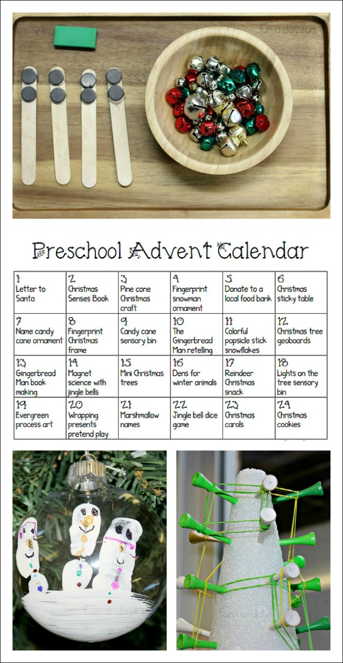Free Printable Preschool Advent Calendar For Teachers And Parents with Advent Calendar Arts And Crafts For Preschool