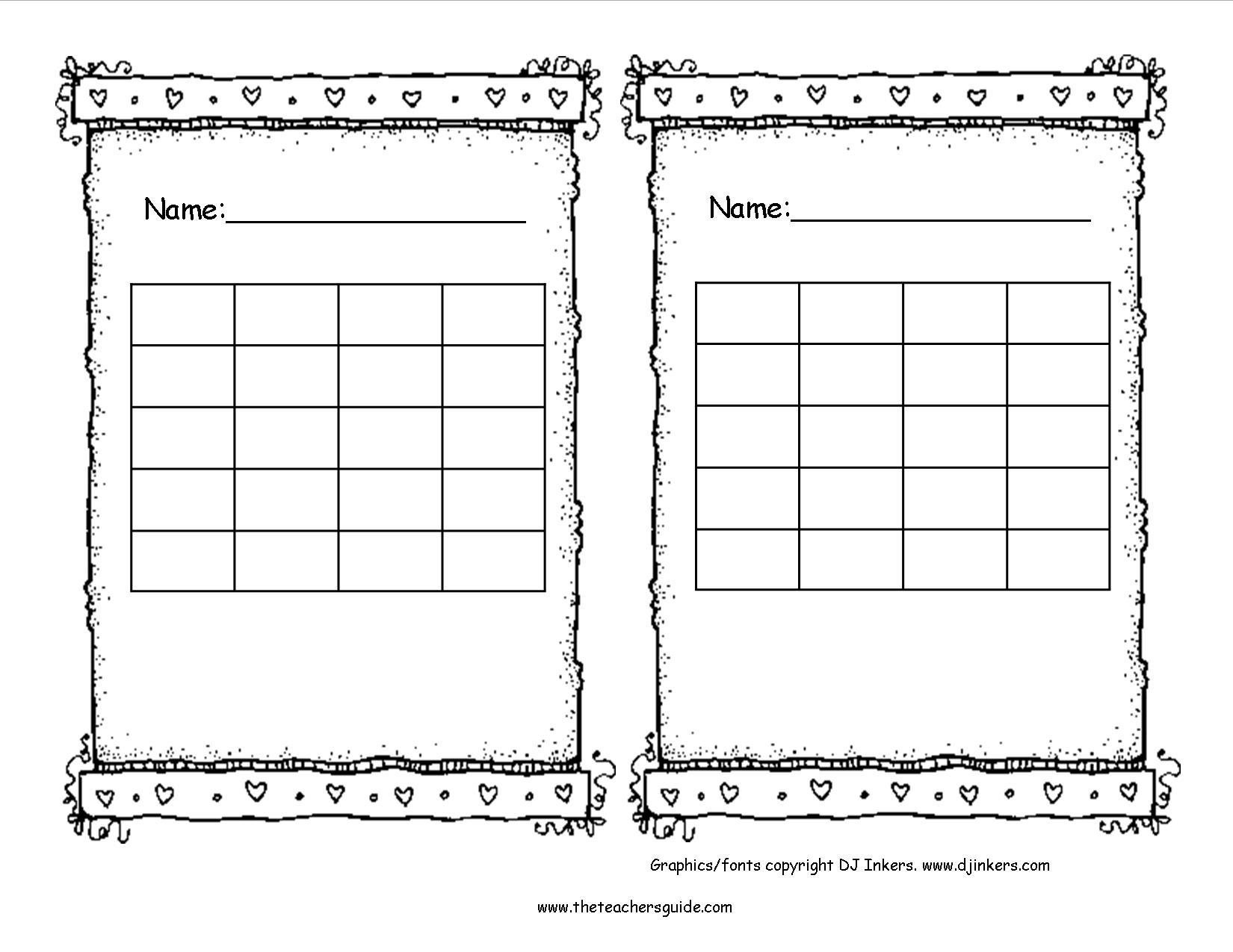 Free Printable Reward And Incentive Charts pertaining to Free Printable Blank Behavior Charts