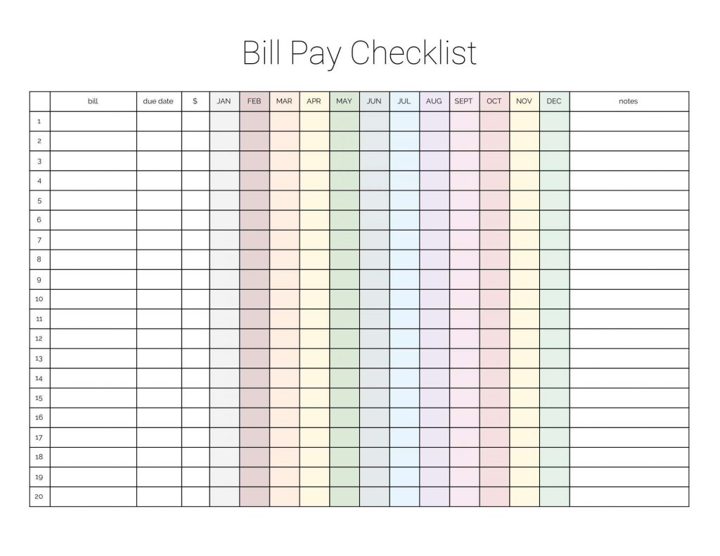 Free Printable Spreadsheet Sheet Forms Blank Templates For Monthly pertaining to Free Printables For Monthly Bills