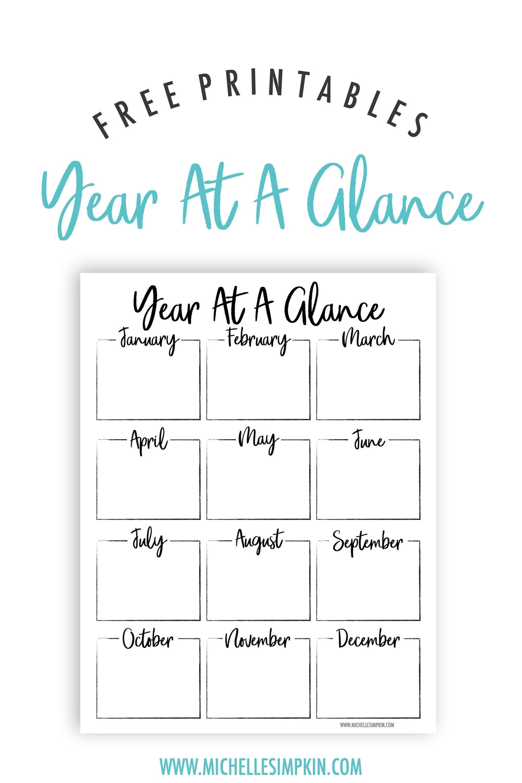 Free Printable - This Year At A Glance Printable Will Help You Plan with Year At A Glance Printable