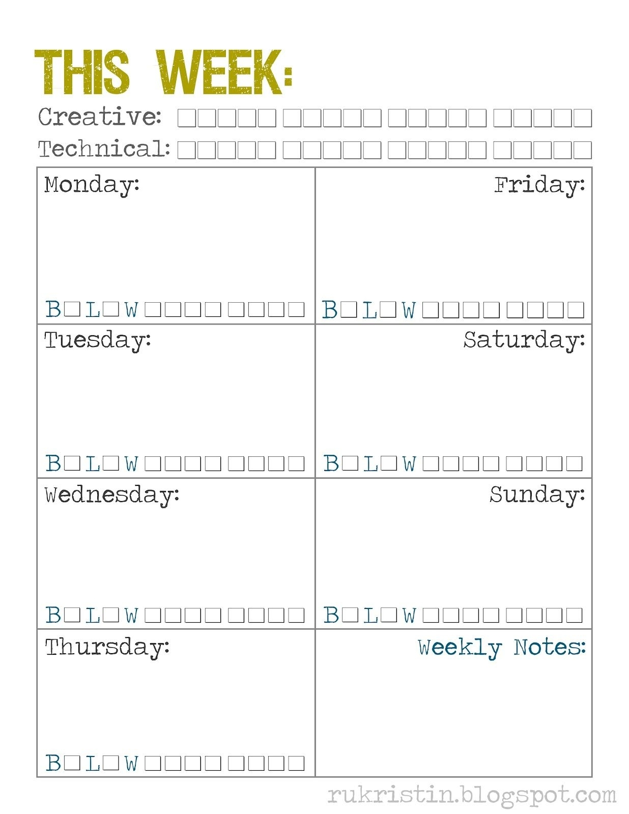 Free Printable Weekly Calendar Template {With Great Ideas For Time within Time Management Monday To Sunday