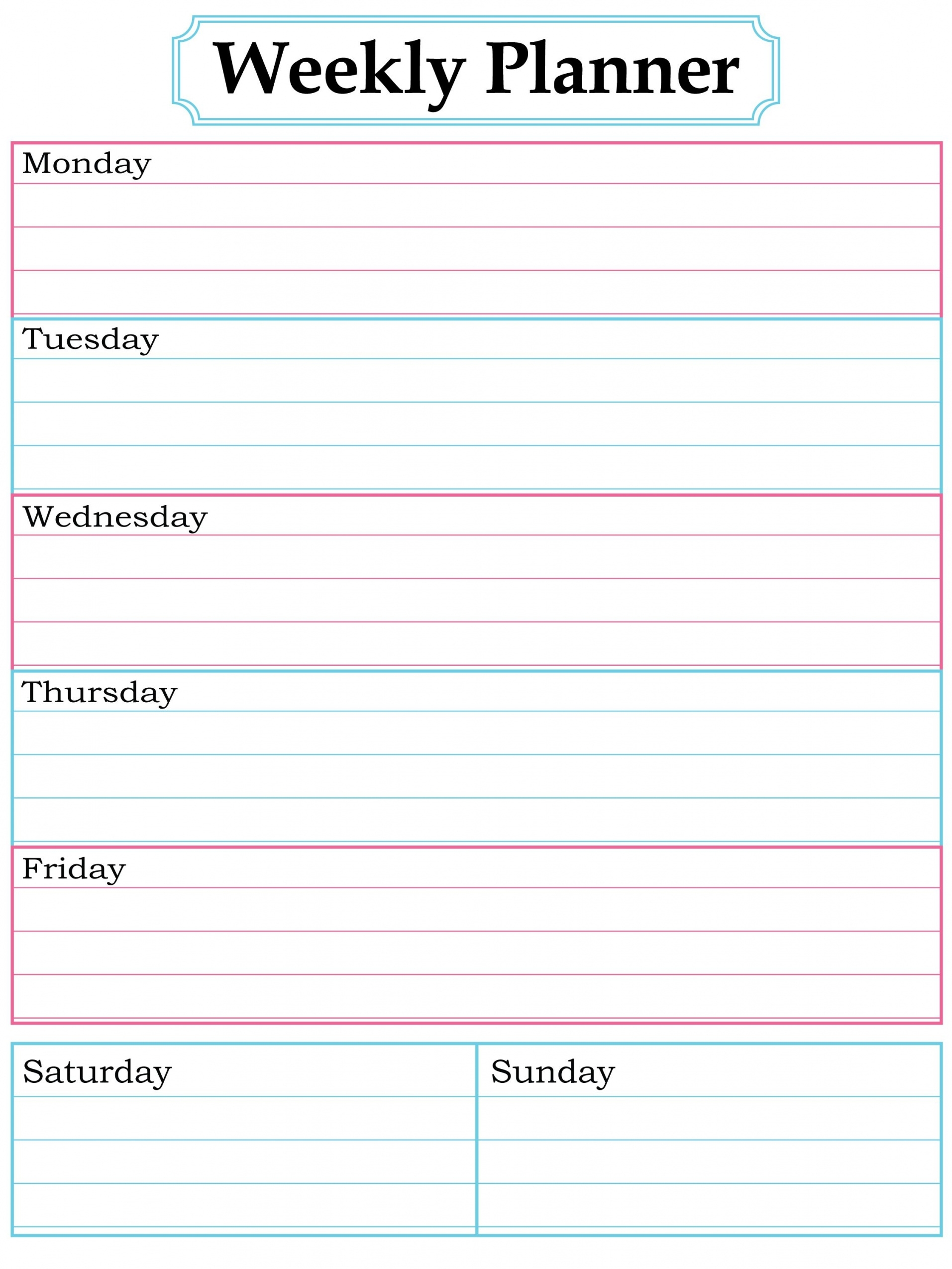 Free Printable Weekly Calendar Templates – Bino.9Terrains.co Simple within Weekly Schedule Template Free To Print