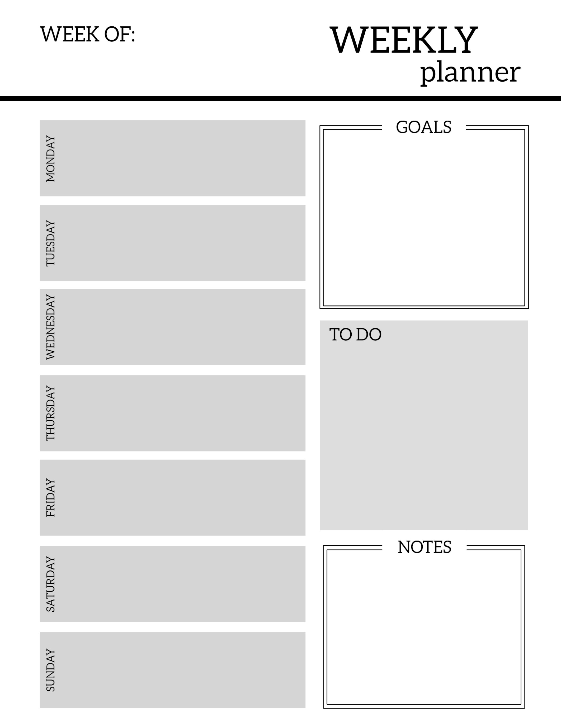 Free Printable Weekly Planner Pages - Paper Trail Design regarding Printable Weekly Planner For The Week