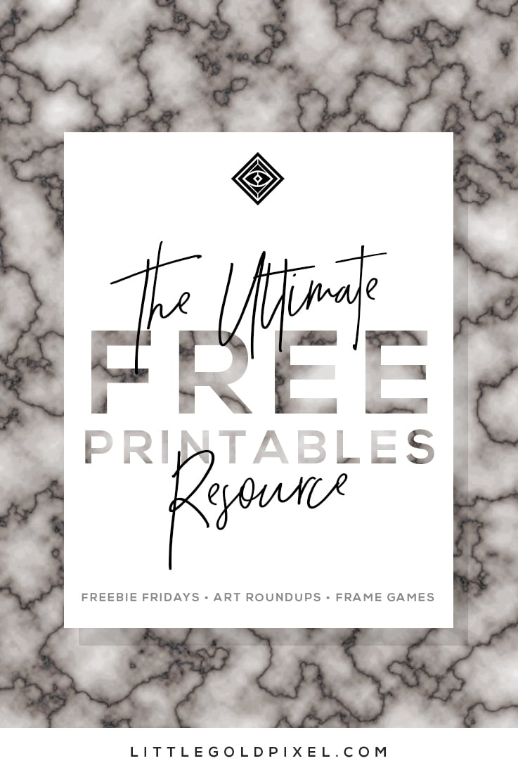 Free Printables • Design & Gallery Wall Resources • Little Gold Pixel for Frame Birthday Calendar Templates Free