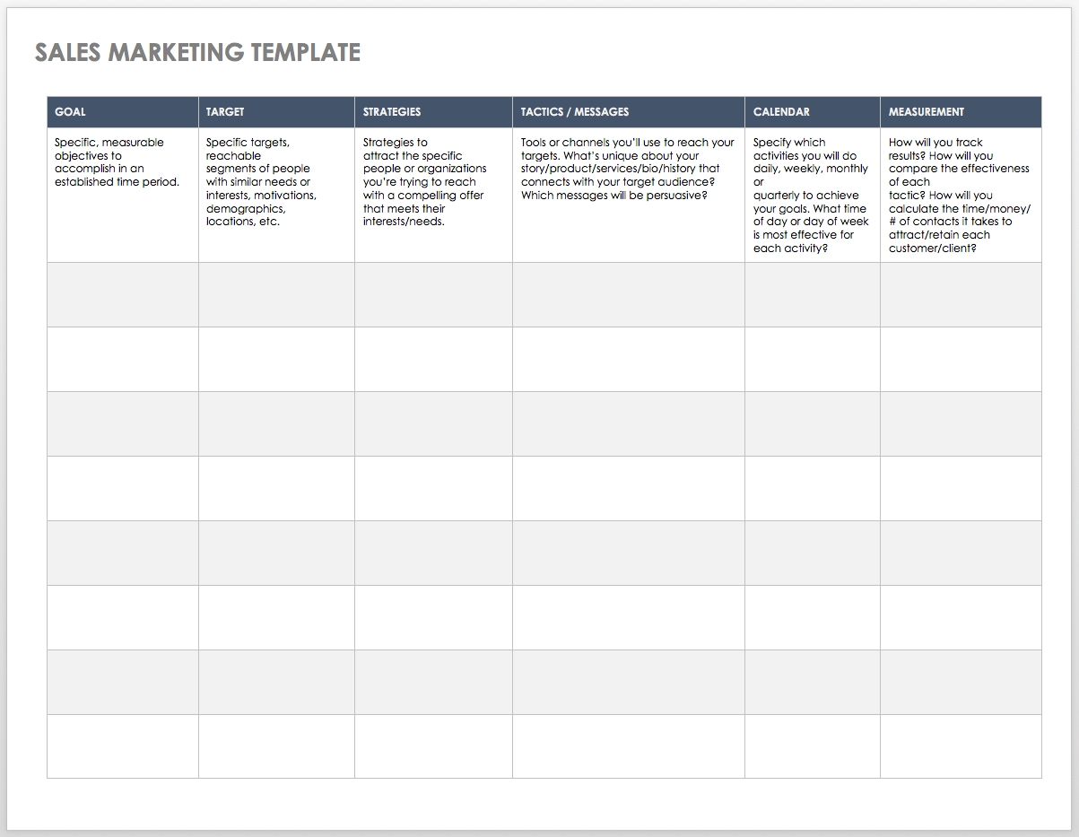 Free Sales Pipeline Templates | Smartsheet pertaining to Monthly Route Schedule Template Free