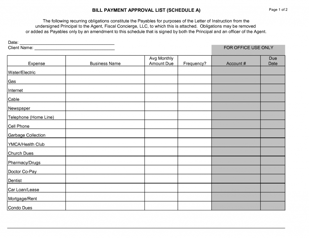 Free Thly Schedule Template Bill Payment Templates Sheets Impressive within Free Printable Monthly Bill Payment Schedule