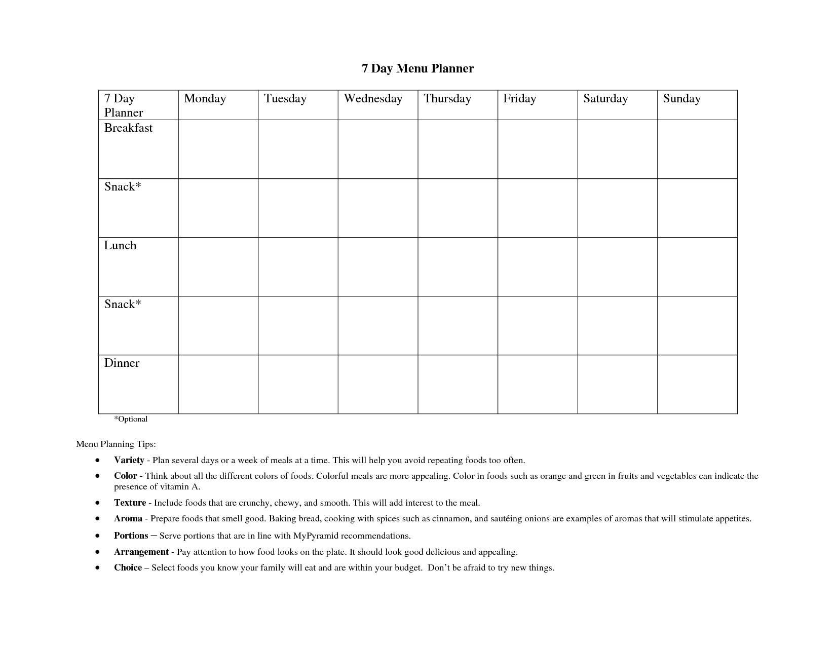 Free Weekly Le Templates For Word Day Template Planner Pdf Hourly for 7 Days A Week Planner