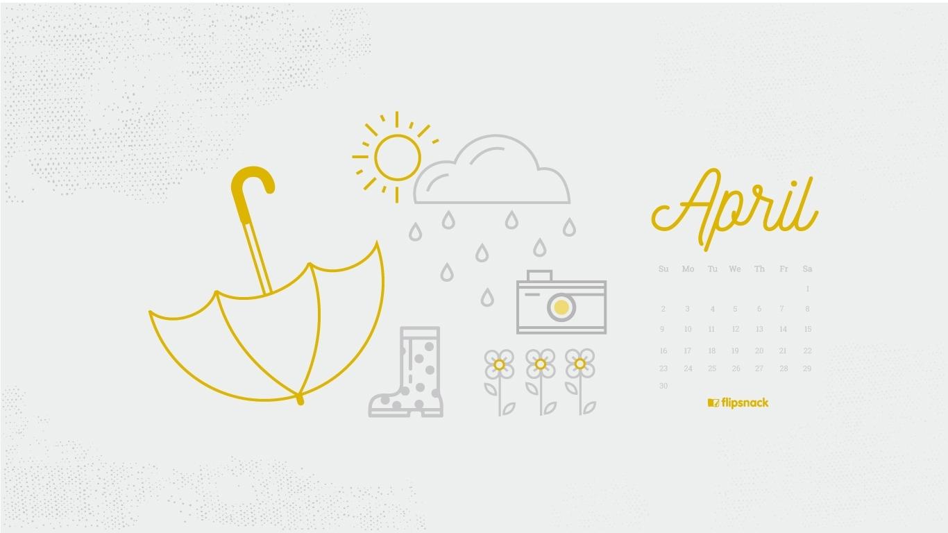 Freebie: April 2017 Wallpaper Calendar Desktop Background within Calendars For January Background Designs