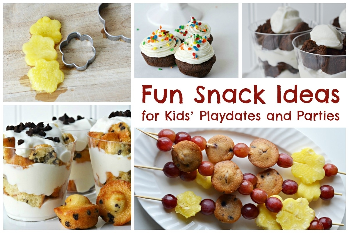 Fun Snack Ideas For Kids' Playdates And Parties inside Fun Snack Ideas For Meetings