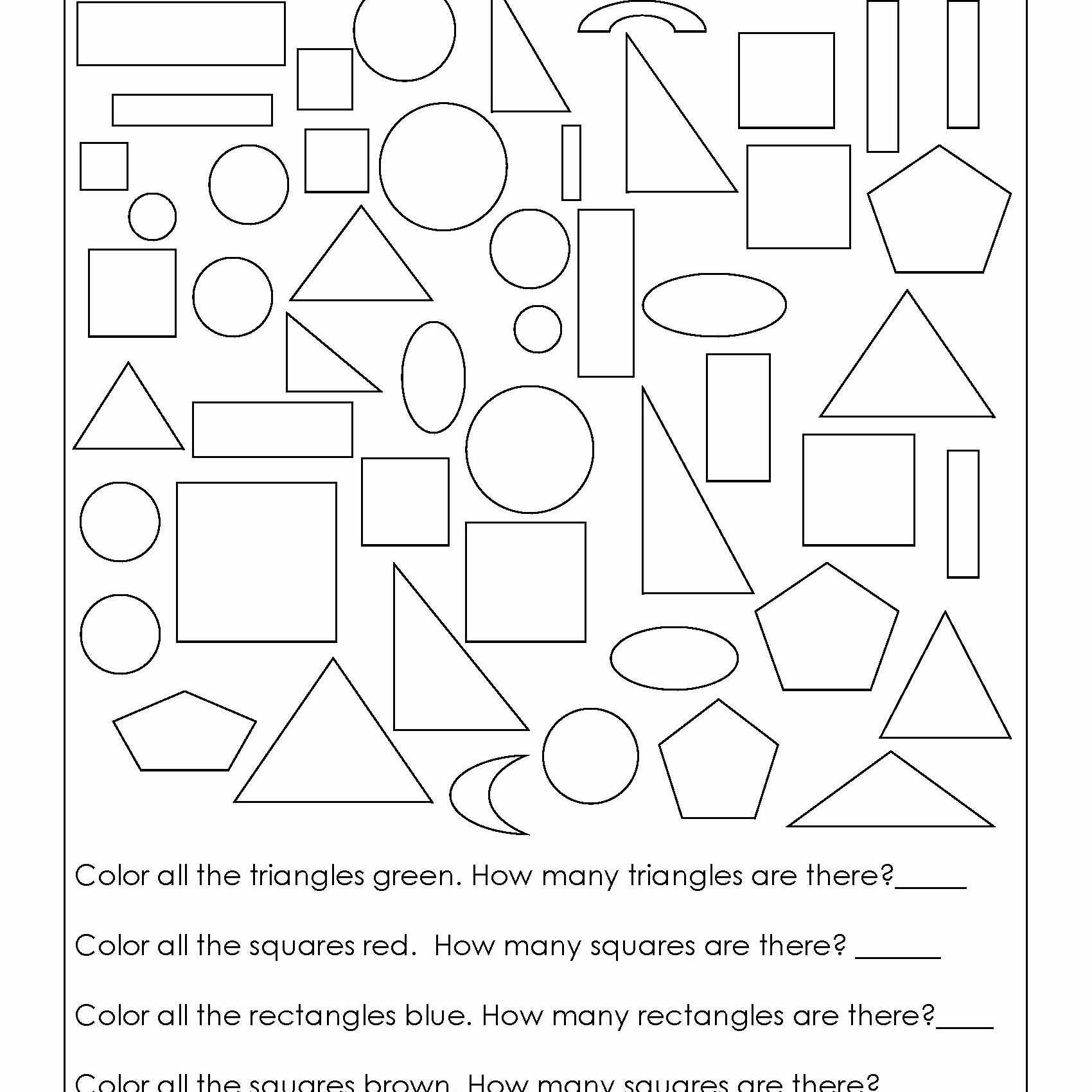 Geometry Worksheets For Students In 1St Grade intended for Homework Pages For 1St Grade